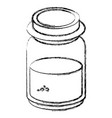 mason jar with ingredient kitchen vector image