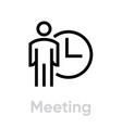 meeting time icon vector image