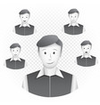 men template with emotions vector image