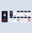 mobile banking ui app smartphone interface vector image