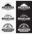 mountains logo badge 2 vector image