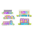 night club disco dance hall city buildings vector image