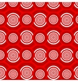 Pattern of red circles vector image vector image