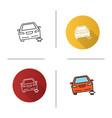 portable car jack icon vector image vector image