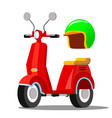 red scooter classic city transport vector image vector image