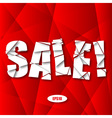 Sale Cut Paper Poster on Red Background vector image vector image