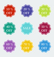 sale symbol special offer label vector image vector image