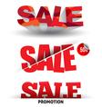 Sale text set vector image