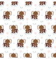 seamless pattern with cute elephants animal print vector image