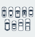 set cars - top view vector image