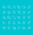set line icons extraction minerals vector image vector image