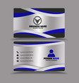 silver black blue business card template vector image vector image