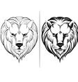 sketch lion head vector image vector image