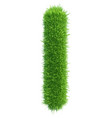 small grass letter l on white background vector image vector image
