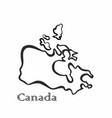 some canada map vector image