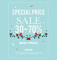 special price sale 30-70 banner for advertisement vector image vector image