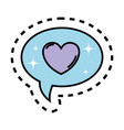speech bubbles with heart vector image vector image