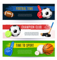sport horizontal banners collection vector image vector image