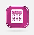 Square icon calculator vector image