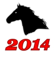 Symbol of 2014 vector image