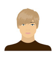 The face of a young guy face and appearance vector image