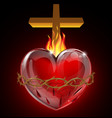the sacred heart vector image vector image