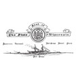 the united states seal of wisconsin vintage vector image vector image