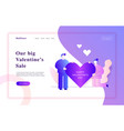 valentines day romantic people couple vector image vector image