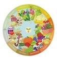 Vegan Calendar vector image