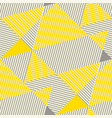 yellow and gray geometric seamless pattern vector image vector image