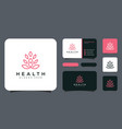 yoga logo with leaf logo template vector image