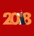 2018 - the year of dog vector image
