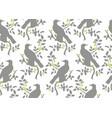 bird on branch seamless pattern vector image