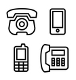 Phone icons set vector image