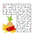 abstract square maze with a color picture