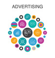 advertising infographic circle concept smart ui vector image vector image