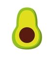 avocado fresh vegetable isolated icon design vector image vector image