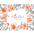 background flowers composition frame with vector image