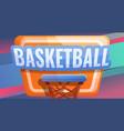 basketball board concept banner cartoon style vector image vector image