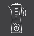 blender line icon household and appliance vector image