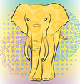 Bright elephant with patterns and mandalas vector image vector image