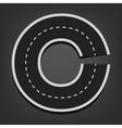 C letter Road font vector image vector image
