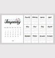 calendar planner for 2020 year with vector image