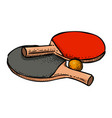 cartoon image of ping pong icon sport symbol vector image vector image