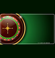 casino roulette wheel isolated on green background vector image