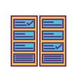 check list mark strategy digital marketing vector image vector image