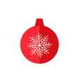 christmas tree decoration ball vector image vector image