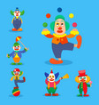 clown circus man characters performer vector image vector image