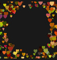 colored random heart background design - love vector image vector image