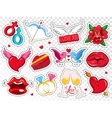 Colorful Love Badges Set vector image vector image